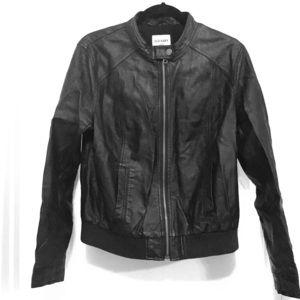 Biker Style Leather Jacket (imitation)